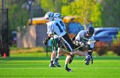 Tropeço do Lacrosse Fotografia de Stock