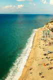 Tropea海滩 免版税库存照片