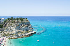 Tropea beach Calabria. Beach in Tropea, Calabria,South Italy stock photography