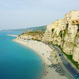 Tropea. Beautiful beach in Calabria Royalty Free Stock Images