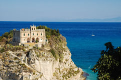Tropea - Church on island Stock Photos