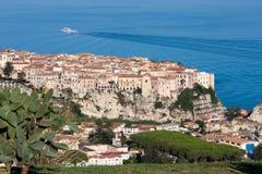 Tropea dans la région de la Calabre de l'Italie du sud Photos stock