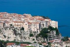 Tropea dans la région de la Calabre de l'Italie du sud Image libre de droits