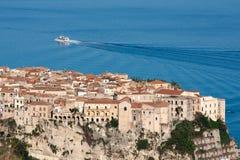 Tropea en la región de Calabria de Italia meridional Foto de archivo libre de regalías