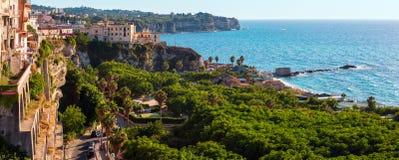 Tropea grodzki widok, Calabria, Włochy Zdjęcie Stock