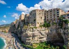 Tropea Italien Royaltyfria Foton