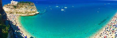 Tropea, italy. Panorama of Tropea beach, Italy royalty free stock photo