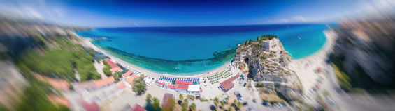 Tropea, Kalabrien Panoramische aerail Ansicht von Santa Maria-dell'Isol Stockfoto