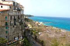 Tropea a small beautiful city in Calabria Royalty Free Stock Image