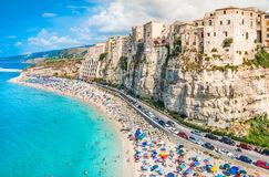 Tropeapanorama, Calabrië, Italië Royalty-vrije Stock Afbeeldingen