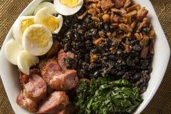 Tropeiro-Bohne Traditionelles brasilianisches Lebensmittel Lizenzfreie Stockfotografie