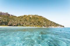 Tropeninsel in Seychellen Stockbilder