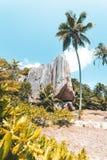 Tropeninsel in Seychellen stockfotografie