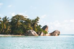 Tropeninsel in Seychellen stockbild