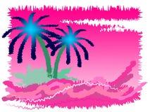 Tropeninsel zeigt gehen auf Urlaub und exotisch an Stockbild