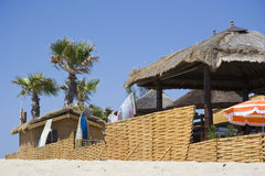 tropez святой хат пляжа стоковое фото