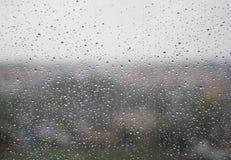 Tropfen auf Fenster stockbild