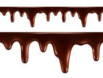 Tropfen der geschmolzenen Schokolade Nahtloser Vektor Stock Abbildung