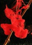 Tropfen der roten Tinte Lizenzfreie Stockfotografie