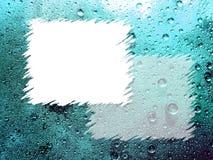 Tropfen des blauen Wassers für Hintergrund Lizenzfreie Stockfotografie
