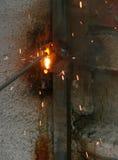 Tropfen des fixierten Metalls Stockfotografie