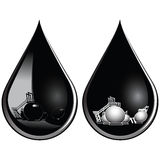 Tropfen des Schmieröls Stockfoto