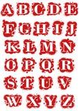 Tropfen-Schrifttyp Stockbilder