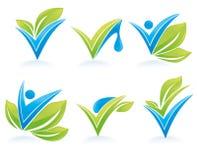 Tropfen und Blätter Lizenzfreie Stockbilder