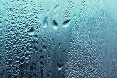 Tropfenbeschaffenheit des blauen Wassers Lizenzfreies Stockfoto