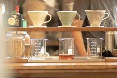 Tropfenf?nger-Kaffee stockfoto