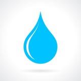 Tropfenikone des blauen Wassers stock abbildung