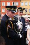 Trophäe Henri-Delaunay im Wroclaw. UEFA-Euro 2012. Stockbilder