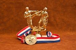 Trophäe-und Medaillen-Sieger Stockbilder