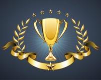 Trophée d'or Photo libre de droits