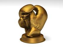 Trophée d'or de boxe illustration de vecteur