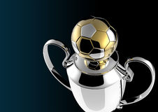 Trophée d'or de récompense du football. Image libre de droits