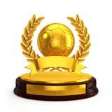 Trophée de ballon de football Photographie stock