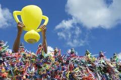 Trophée de bonne chance du Brésil de coupe du monde photo libre de droits