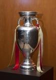 Trophée de championnat de football d'Européen d'UEFA Photographie stock libre de droits