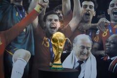 Trophée de coupe du monde Photographie stock