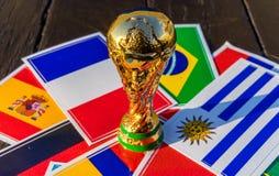 Trophée de coupe du monde de la FIFA photos libres de droits