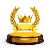 Trophée de couronne Photos libres de droits