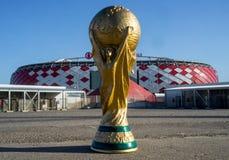 Trophée de la coupe du monde de la FIFA photographie stock libre de droits
