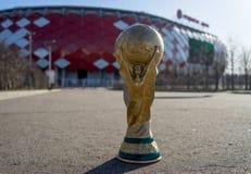 Trophée de la coupe du monde de la FIFA images stock