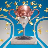 Trophée néerlandais du football illustration stock