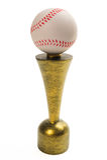 Trophée de base-ball d'isolement sur le fond blanc Image stock