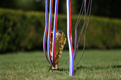Trophée de coupe du monde Photo libre de droits