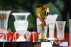 Trophies. A photo taken on some prize trophies at a competition royalty free stock photography