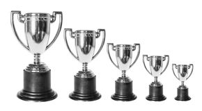 Trophies. On Isolated White Background Royalty Free Stock Image