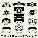 Trophies, awards banners, ribbons and labels Royalty Free Stock Photos